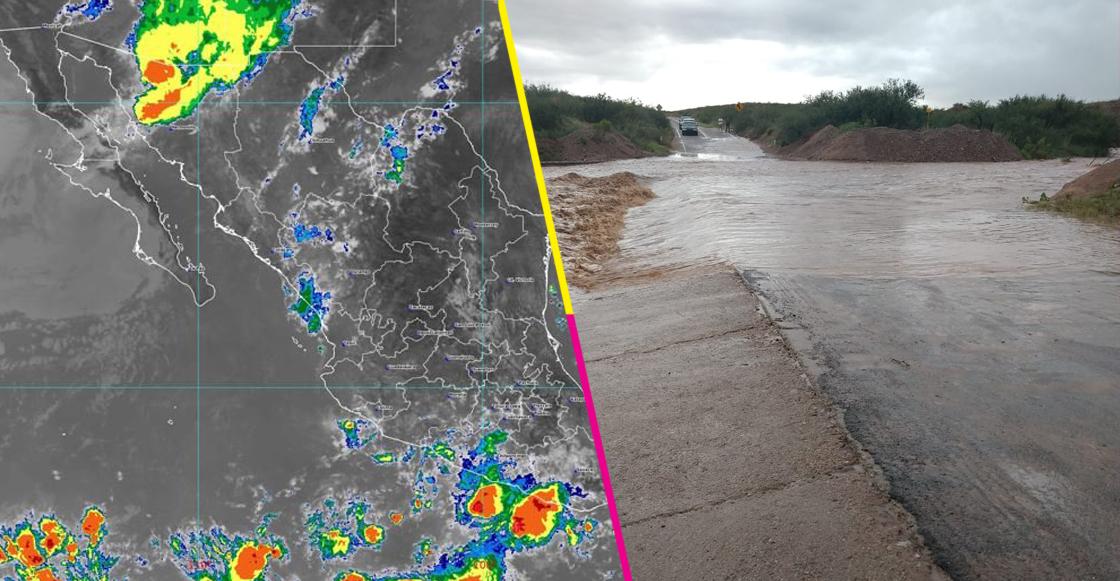 Por intensas lluvias se suspenden clases en cinco municipios de Sonora