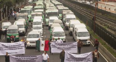 Transportistas advierten que habrá marcha, si no funcionan reuniones con el gobierno CDMX