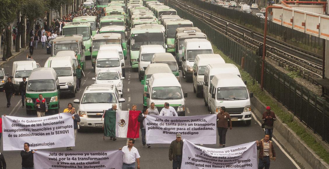 Transportistas advierten que habrá marcha si no funcionan reuniones con el gobierno CDMX