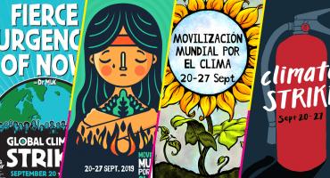Checa los mejores pósters y pancartas de la Huelga Mundial por el Clima