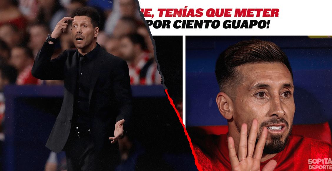 El 'Cholo' no metió a Héctor Herrera ante el Madrid y colmó la paciencia de los memes