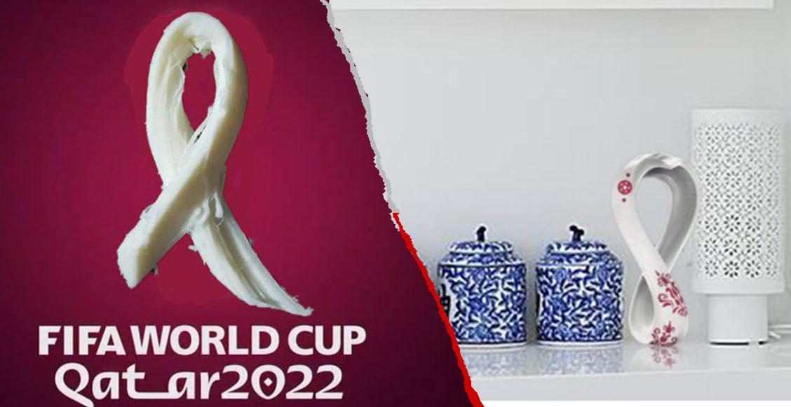 El logo de Qatar 2022 pinta para campeón del Mundial de los memes