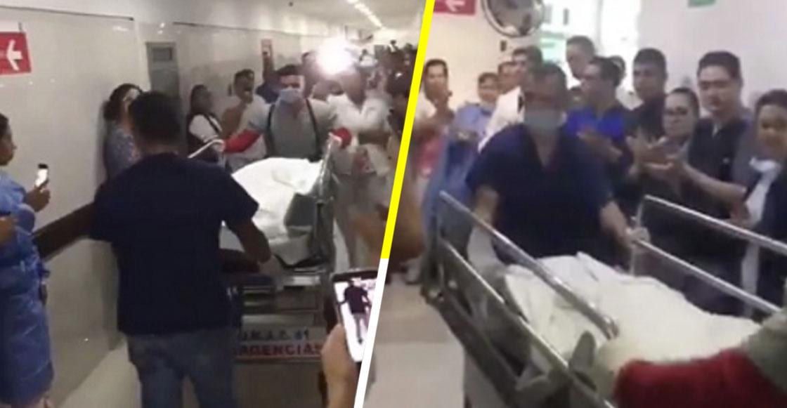 Entre aplausos despiden a joven que donó sus órganos y salvará la vida de 7 personas