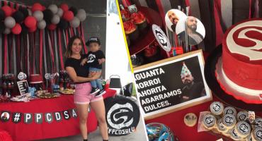 Fiestas brgas: Este niño festejó su cumpleaños al estilo de Cartel de Santa