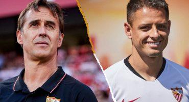 Las palabras de Julen Lopetegui por el debut de 'Chicharito' Hernández con el Sevilla