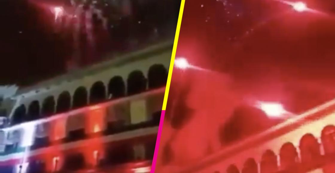 Pirotecnia cayó sobre gente durante ceremonia del 15 de septiembre en Xalapa