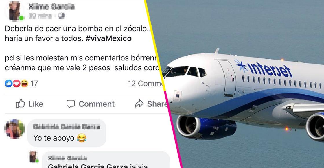 Interjet ya investiga a la supuesta piloto que sugirió tirar una bomba en el Zócalo