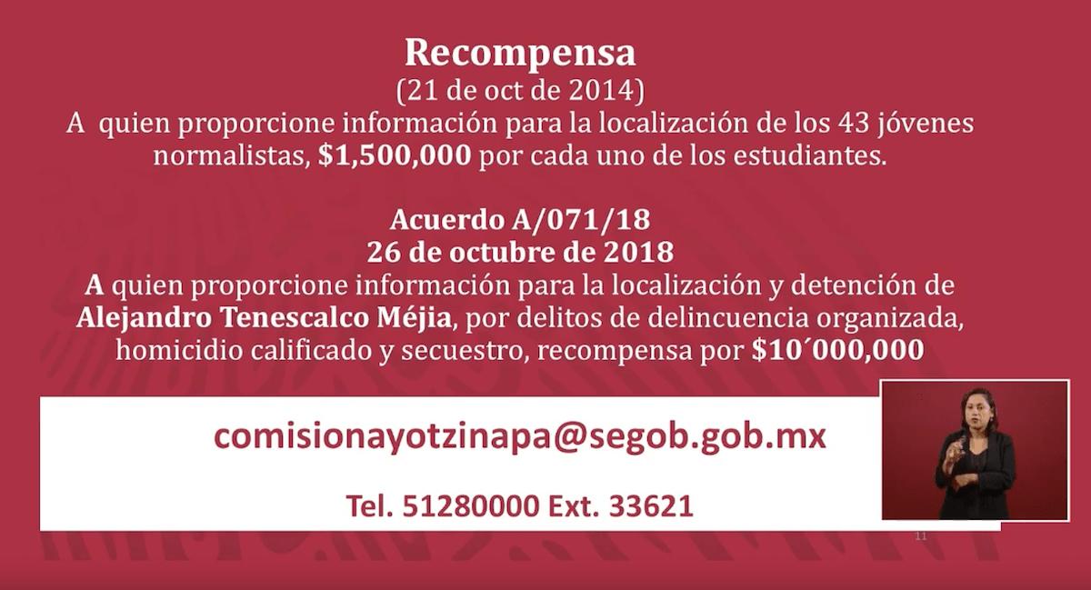 recompensa-ayotzinapa-alejandro-encinas