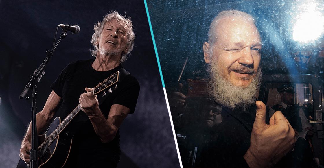 """Roger Waters toca """"Wish You Were Here"""" en apoyo a Julian Assange"""
