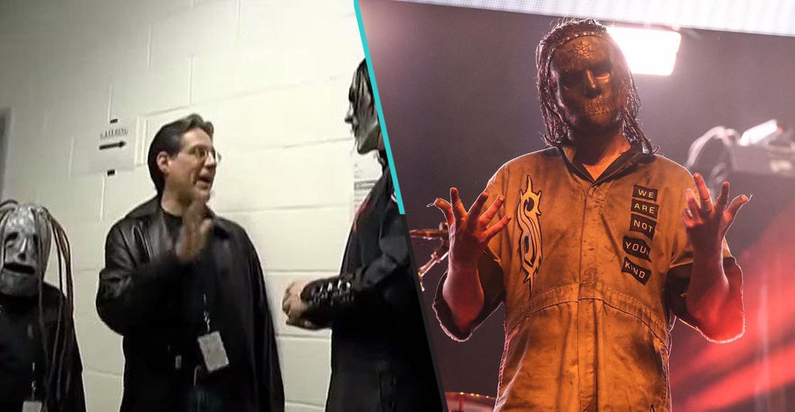 Baterista de Slipknot recrea la foto de cuando conoció a la banda de niño
