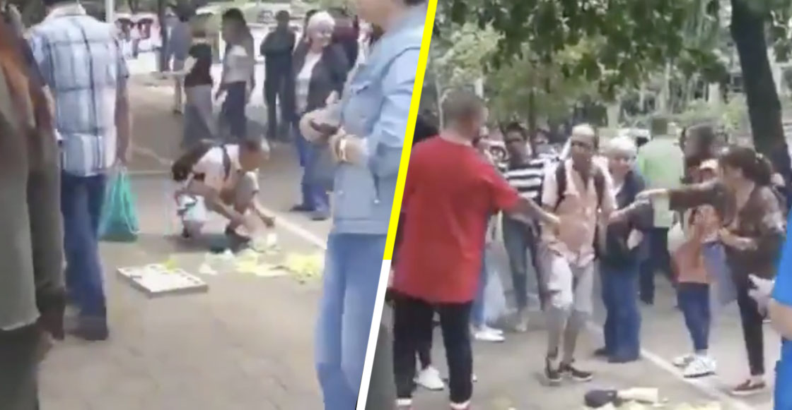 ¡Fe restaurada! Vendedor tira por accidente sus mangos y la gente lo ayuda con este lindo gesto