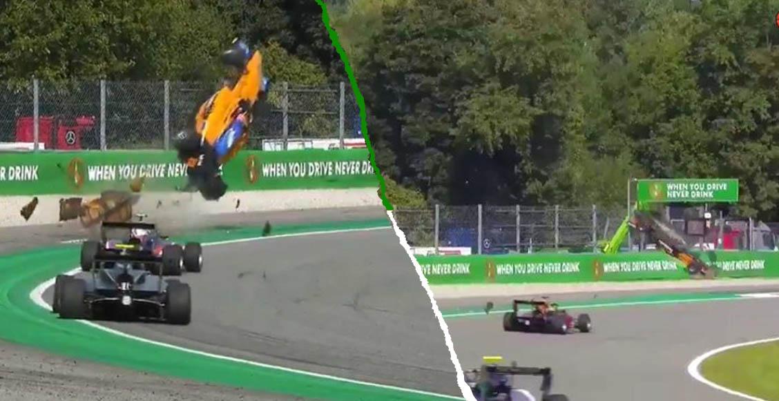 Alex Peroni sufrió un terrible accidente en el circuito de Monza de la Fórmula 3