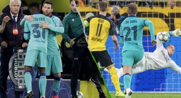 Messi regresó y Ter Stegen salvó al Barcelona de caer en Champions