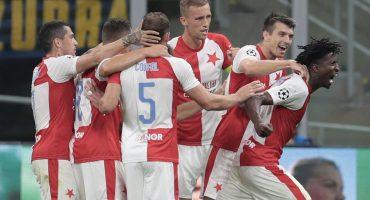 El sorpresivo Slavia Praga 'frenó' al Inter de Milán en Italia