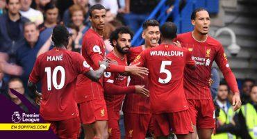 Liverpool conquistó Stamford Bridge y es líder en solitario de la Premier League