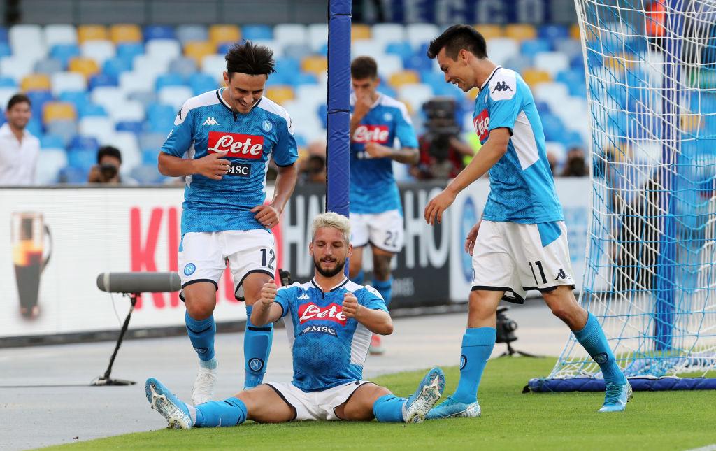 Brillante actuación del 'Chucky' Lozano en la victoria del Napoli sobre Sampdoria