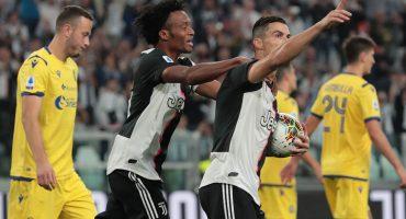 Cristiano Ronaldo salvó a la Juventus de cederle puntos al Hellas Verona