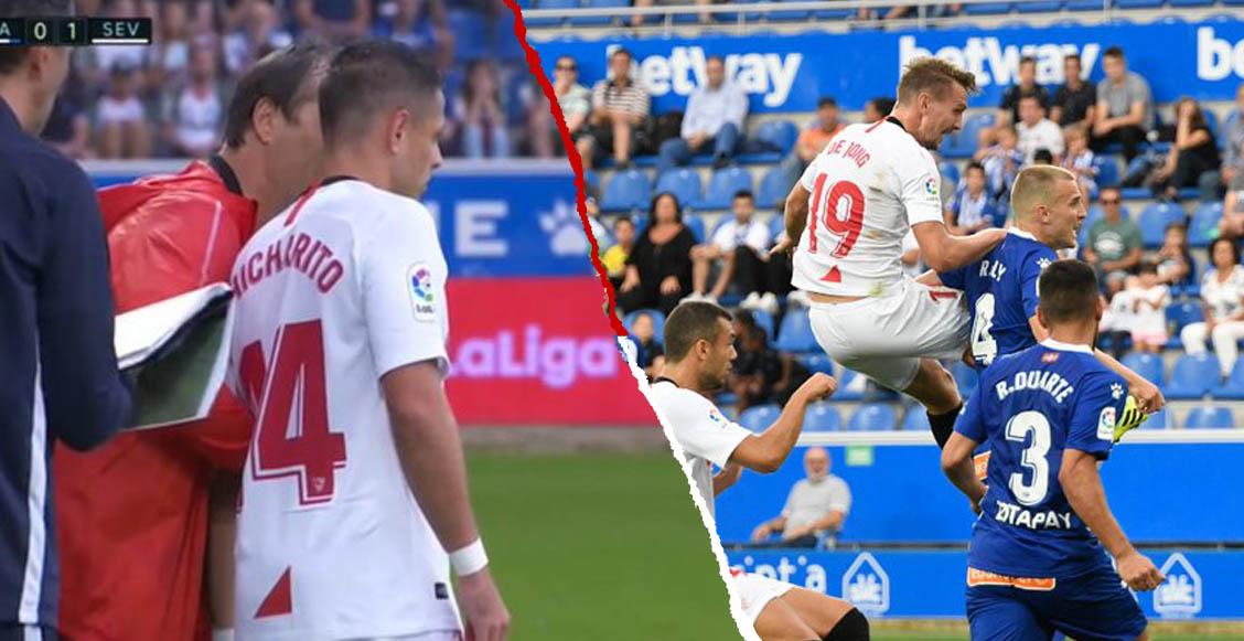 Así fue el debut de 'Chicharito' en la victoria del Sevilla sobre el Alavés