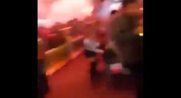 Pirotecnia cayó sobre gente, durante ceremonia del 15 de septiembre, en Xalapa