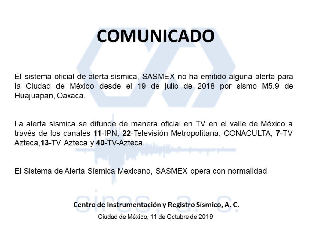 Desmienten activación de la alerta sísmica en la CDMX este viernes
