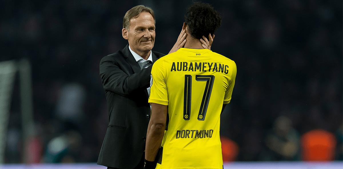 ¡Hay tiro! Aubameyang le respondió y llamó payaso al CEO del Borussia Dortmund