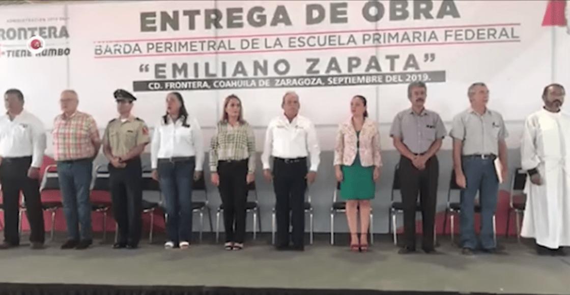 En Coahuila, maestro confunde Juramento a la Bandera con Padre Nuestro