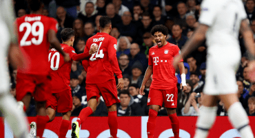 ¡Ya déjenlo! Bayern exhibió al Tottenham con póker de Gnabry