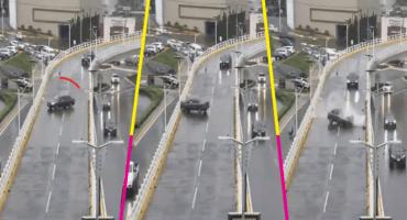 ¡Abusados con la lluvia! Camioneta se derrapa en puente del Edomex