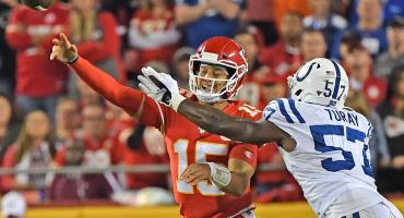 Colts terminaron con el invicto de los Chiefs y Mahomes salió 'tocado'