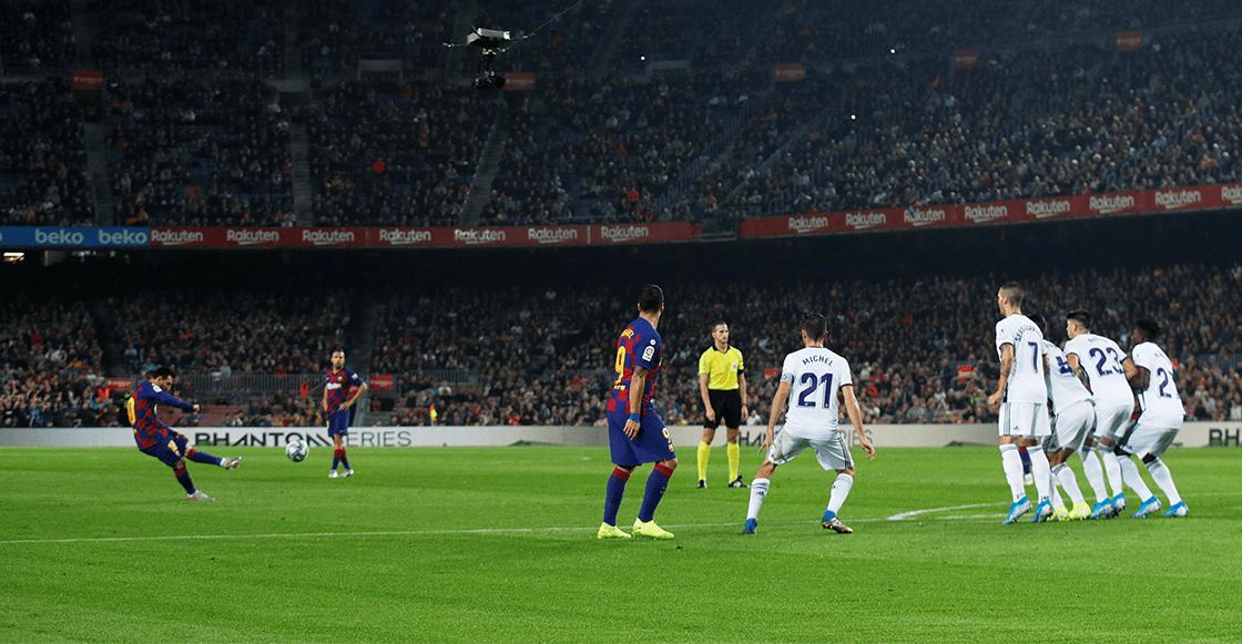 En imágenes y videos: Así fue el GOLAZO de tiro libre de Messi al Valladolid