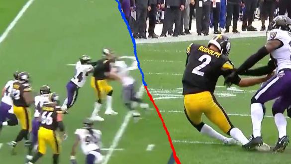 ¡Escalofriante! El duro golpe que dejó inconsciente a Mason Rudolph en el Ravens vs Steelers