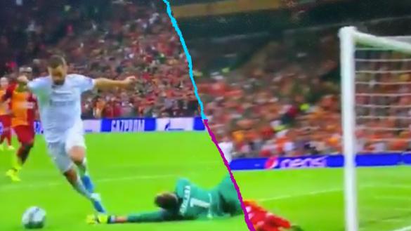 Ni tu ex te falló así: El tremendo OSO de Eden Hazard ante el Galatasaray