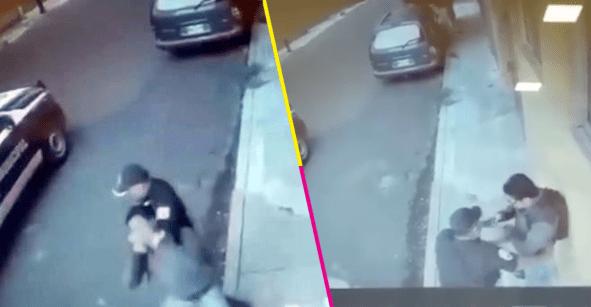 Investigan a policía que aplicó la llave china contra un transeúnte en Naucalpan