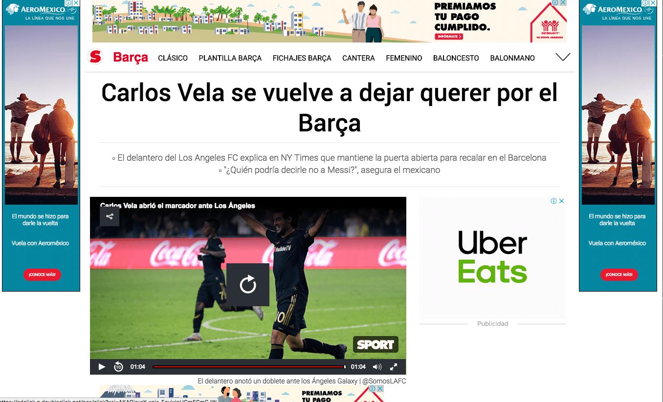 Así reaccionó la prensa catalana al interés de Vela por jugar con Messi