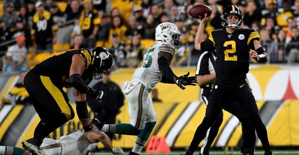 Quedó en susto: Steelers remontan a Dolphins en la Semana 8 de la NFL