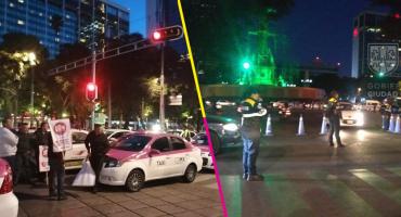 Una mañana caótica: Taxistas colapsan Paseo de la Reforma, Insurgentes, Santa Fe y Avenida Central