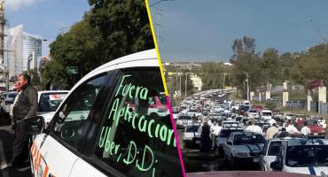 No sólo fue CDMX, taxistas bloquearon vialidades en al menos 8 ciudades del país