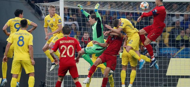 Peligra el campeón: Ucrania califica a la Euro 2020 con triunfo sobre Portugal
