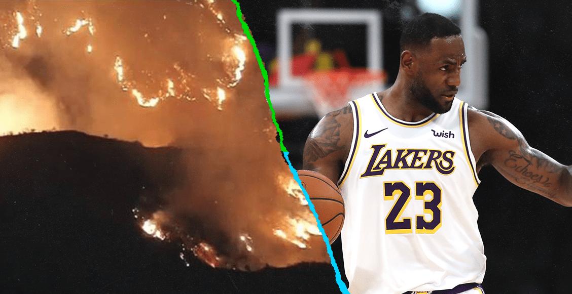 LeBron James evacuó su casa con su familia por un incendio