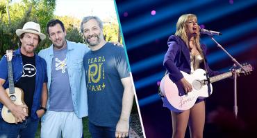 Todo un estuche de monerías: Adam Sandler canta con Eddie Vedder y coverea a Taylor Swift junto a sus hijas