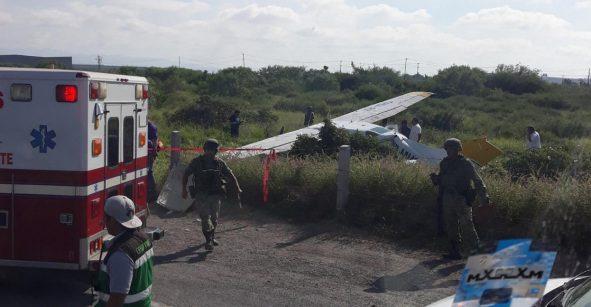 Por falla mecánica, una aeronave se desplomó en Nuevo León; hay un herido