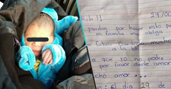 Mujer abandona a su bebé recién nacido en una caja de cartón; pide que le den mucho amor