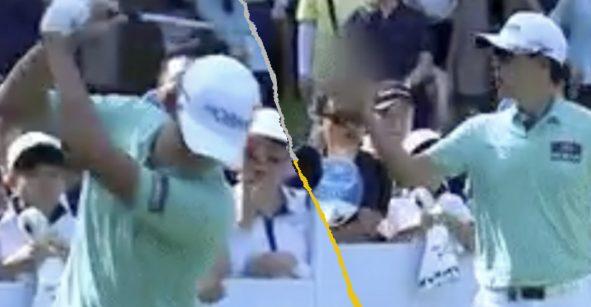 Con todo y perdón de rodillas: Así el castigo al golfista que hizo seña obscena al público