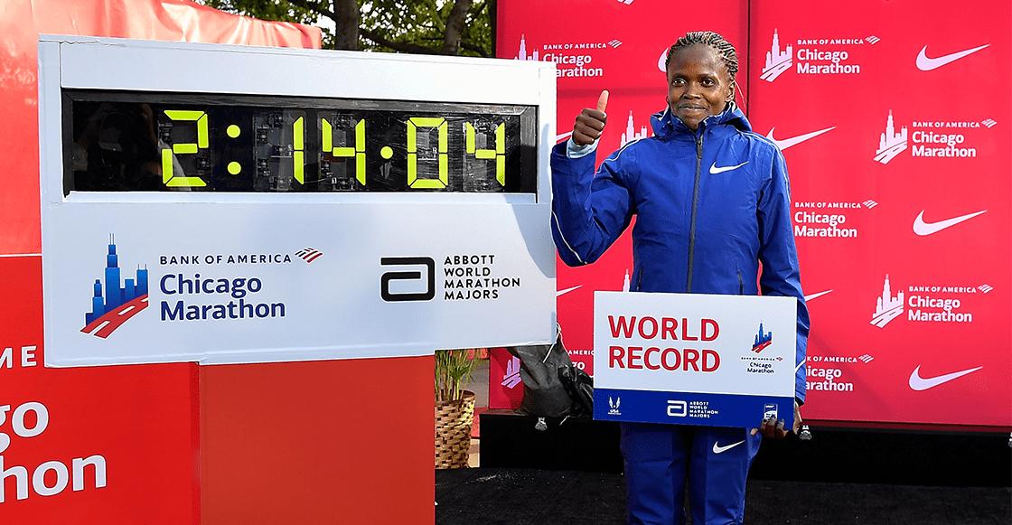 La keniana Brigid Kosgei bate el récord mundial de maratón