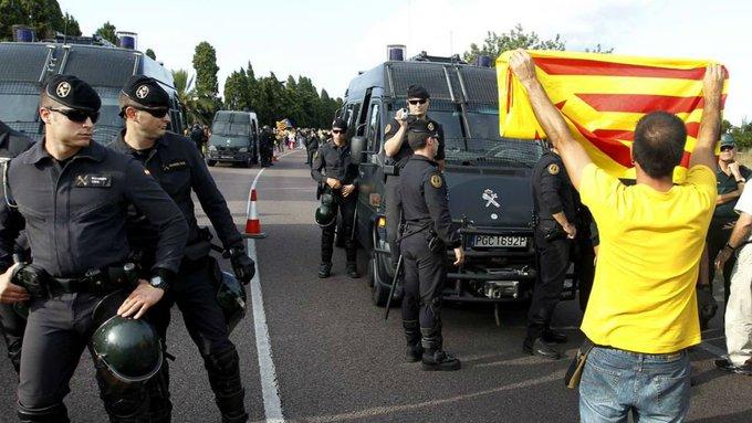 Protestas en Cataluña tras sentencias de cárcel contra líderes independentistas