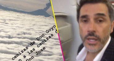 Que dice Sergio Mayer que las cenizas del 'Popo' recibieron a las cenizas de José José