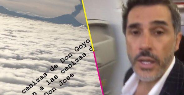 Dice Sergio Mayer que las cenizas del Popo recibieron a las cenizas de José José