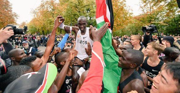 Eliud Kipchoge, primer hombre en el mundo en terminar un maratón en menos de 2 hrs