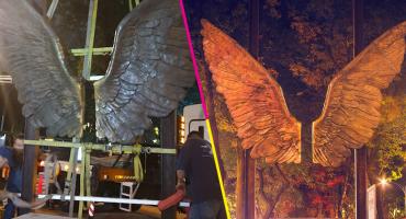 ¿Se despidieron? Quitaron la escultura 'Alas de México' de Reforma