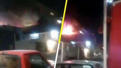 ¡ALV! Explosión de un tanque de gas en Ecatepec queda grabada en video